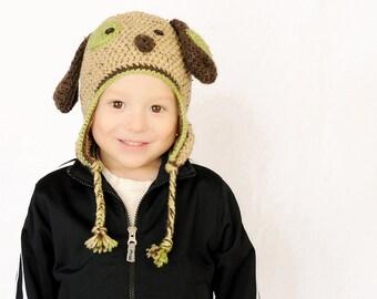 Crochet Puppy Hat  - Floppy Ear Puppy Hat - Baby Puppy Hat - Newborn Puppy Hat - Puppy Dog Hat - Animal Hat - Newborn Photo Prop - Doggy Hat