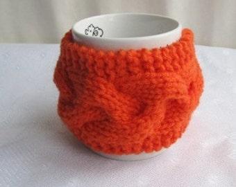 Knitted Orange Mug Cozy, Mug Warmer,Tea Cozy, CHOOSE YOUR COLOR