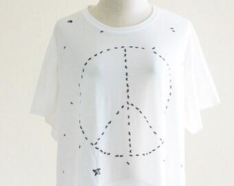 Ant shirt ant Colony Wasp Peace Animal tshirt teen shirt art shirt fashion shirt funny graphic tee crop top women tee screen print free size