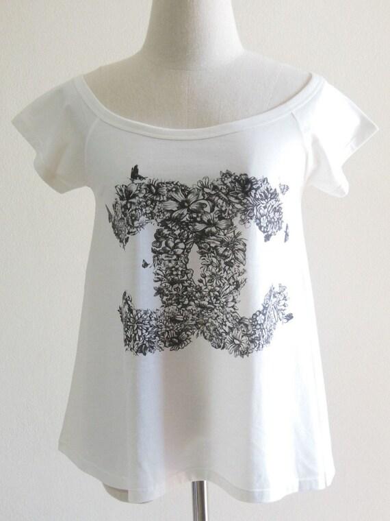 Rose Flowers Nature Art Design Women T-Shirt Cream Shirt Short Sleeve T-Shirt Art T-Shirt Screen Print Size S