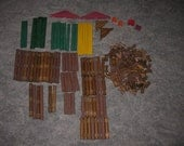 Vintage Lincoln Logs  All Wood 4lbs. Plus.