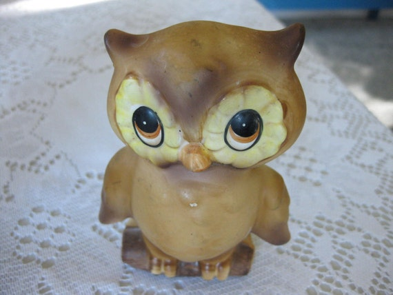 """Vintage Owl Napkin Holder """"Josef Original"""""""