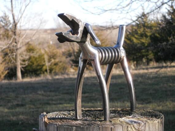 Sold request order plier dog metal sculpture klein
