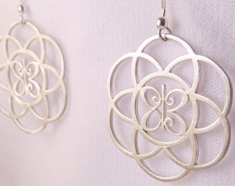 One Meaning Seed of Life Earrings  - All of our jewelry means I Love You