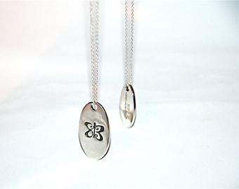 Lovebug Necklace  in Sterling Silver - Large