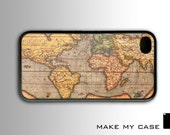 Vintage Old World Map : iPhone 4 Case, iPhone 4s Case, iPhone 4 Hard Case, iPhone Case