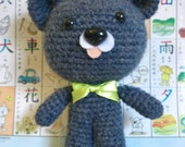 Blueberry Bear - amigurumi crocheted bear