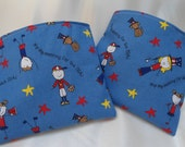 """Reusable Snack Bags, Patriotic Red, White and Blue, Boys and Girls,  6"""" x 7"""""""