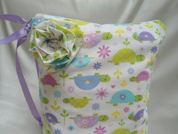 "Baby Wet Bag Large, Smiling Turtles, 13"" x 16"", Babies and Toddlers,"