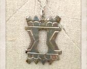 Silver Vintage Keyhole Necklace