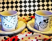 LAST CHANCE Wasting Time Alice Inspired Tea Cup Set