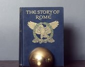 "Vintage 50's Cloth-Bound Book ""The Story of Rome"" Library Study Den Mancave Colour Plates"