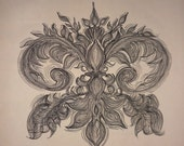 Fleur de Lis Custom Drawing