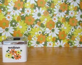 Vintage floral coffee canister
