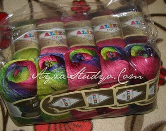 Alize Diva Batik Yarns- Set of 5 Skeins (500g - 1750m)
