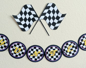 INSTANT DOWNLOAD - DIY Printable Checkered Race Flags - Party Decor or Clip Art Digital Design