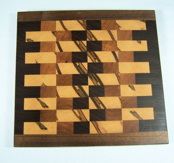 Cutting board end grain small walnut cherry birch