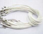 2pcs 18 inch 2mm white korea wax cotton SNAKE BONE necklace cords D0010