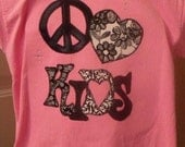 PEACE HEART KIDS..... says it all for a great daycare, school teacher or even a pediatrician's office