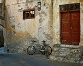 Photo Card - Waiting for Rider, Bicycle, Greece, Fine Art Photography 5x7 Folding Blank Card