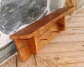 WORMY CHESNUT Rustic Shelf RARE Wood