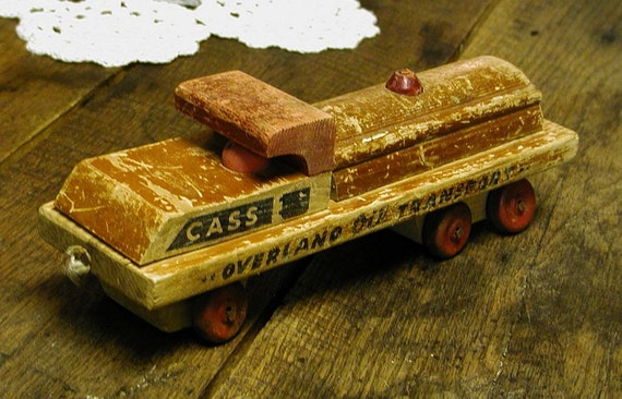 Res For Doug - Toy Truck Vintage Cass WWII Wooden Great Christmas Gift