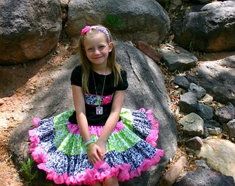 Frilly pink, Beautiful, Custom Boutique Girls  Twirling Skirt and shirt