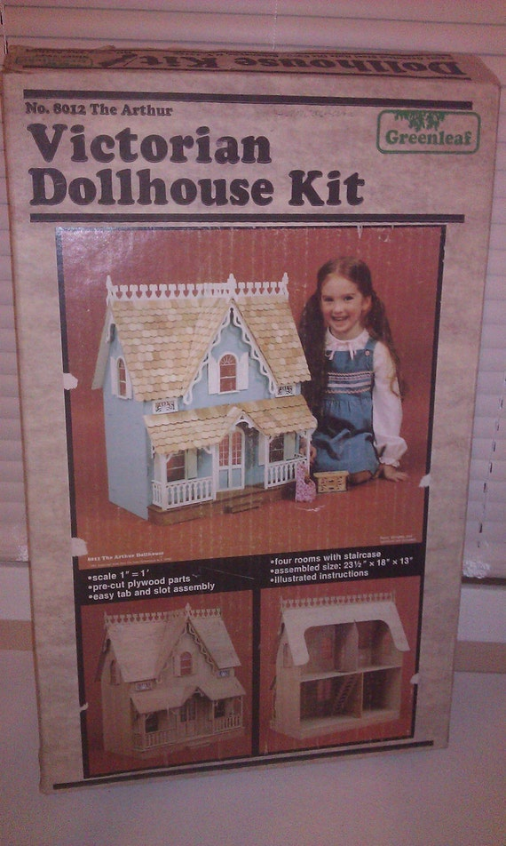 Doll House Kit, 1981, No. 8012  Victorian Dolhouse Kit by Greenleaf
