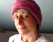 Knitting Pattern for Hat with Peony Ruffle.. PATTERN ONLY ..PDF version