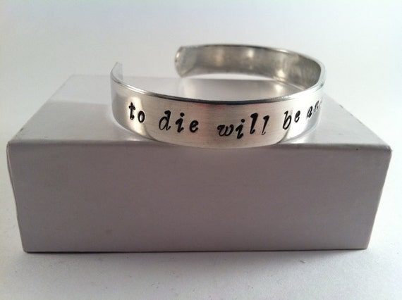 "Peter Pan ""To Die Will Be An Awfully Big Adventure"" bracelet"