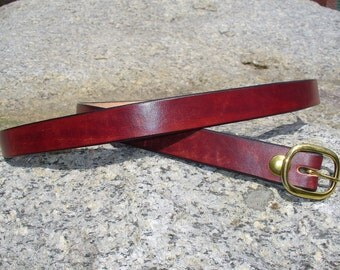 "1"" Mahogany Dress Belt"