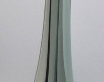 Art glass vase black and white