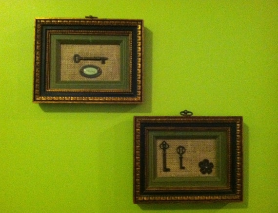 Framed Key Wall Display