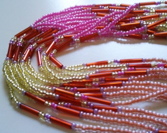 Candy Colored South African Beaded Necklace