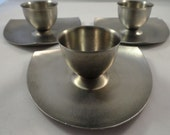 Vintage 1960s Stainless Steel Egg Cups