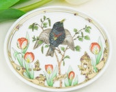 Vintage Collectors Item Hutschenreuther Germany Plate of the Month April Starling with tulip - Ole Winther