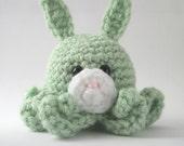 Light Green Amigurumi Bunny Octopus