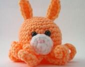 Light Orange Amigurumi Bunny Octopus