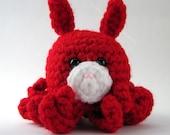 Red Amigurumi Bunny Octopus