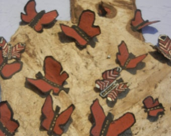 4 ft hand pounded bark paper Butterfly Woman w/ 3-D hand pounded bark paper butterflies, acrylic and clay paint