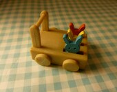 Vintage Sylvanian Families/Forest Families vintage dollhouse miniature baby/toddler toy (rabbit, wooden)