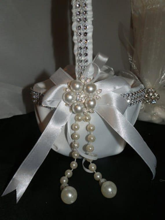 Elegant Satin flower girl Basket