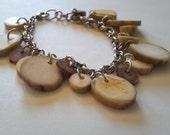 Deer antler charm bracelet
