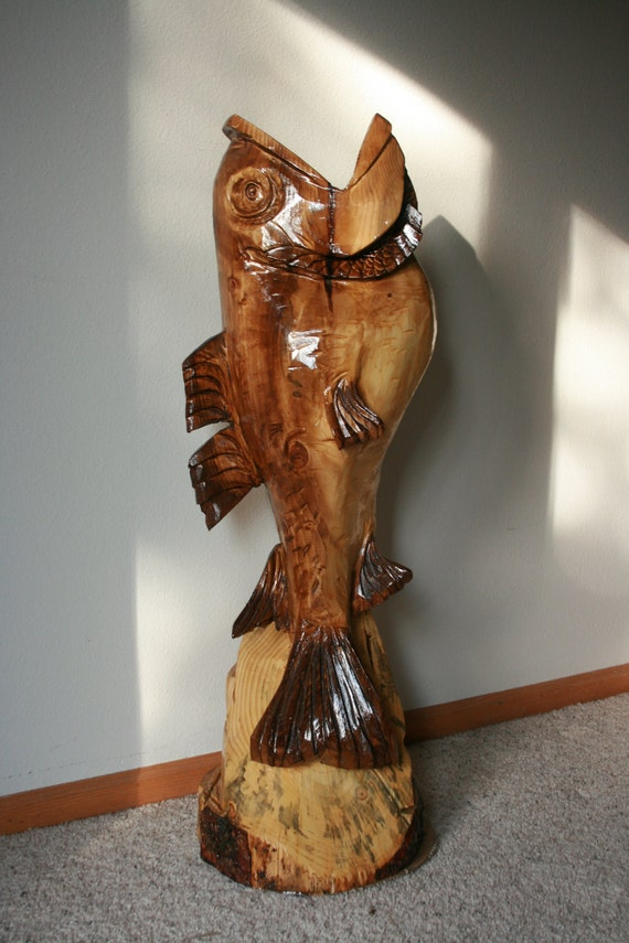 Items similar to fish chainsaw carving on etsy