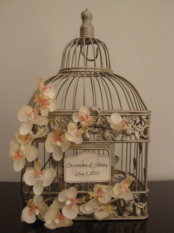 ... Bird Cage Wedding Card Holder / Wedding Card Holder Birdcage / Wedding