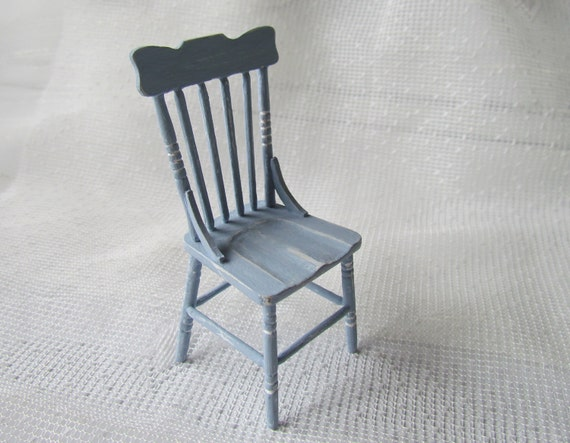 Miniature 1/12th Scale Shabby Chic Spindleback chair