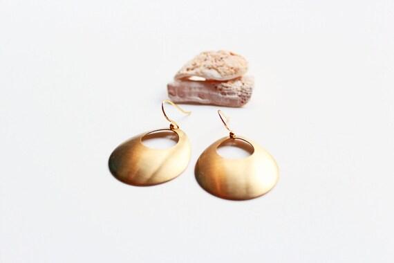 Raw Brass Hoop Earrings