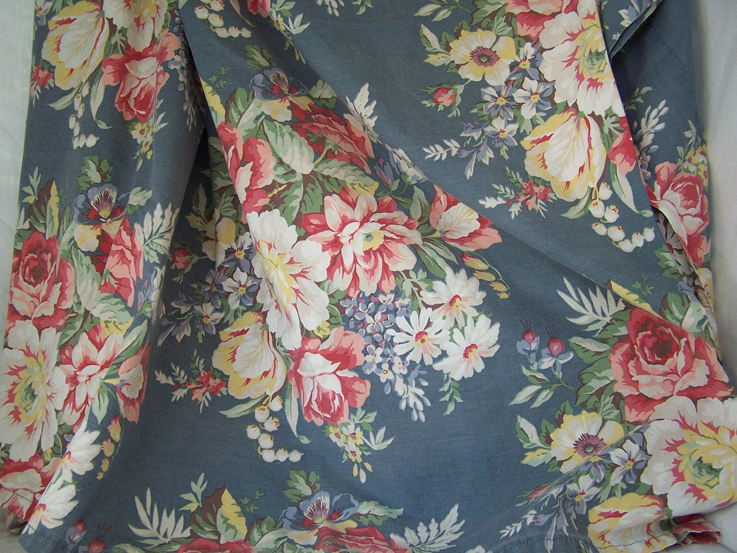 Ralph lauren floral bedding kimberly blue floral has a