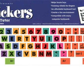 Typing Tutor Computer Keyboard Stickers Label Decal Key Learn Teach