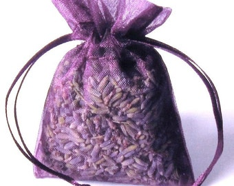 Plum Wine Wedding Favor 60 2x3 Organic Lavender Sachets party favor bag Bridal Birthday Party